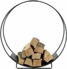 Cosy @ Home Houtrek Woodblocks Zwart - Ø70x29x(H)71cm - Metaal