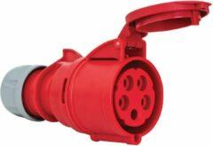 Mete - CEE female 5 polig 6H 32A IP44 kracht - rood - stekker 380-415VAC