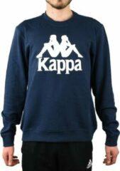 Kappa Sertum RN Sweatshirt 703797-821, Mannen, Marineblauw, Sporttrui casual maat: L