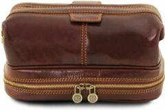 Tuscany Leather - Leren toilettas 'Patrick' - Bruin - TL141717