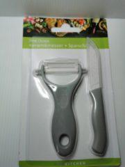Grijze Best Choice Keukenmes en dunschiller met keramisch mes