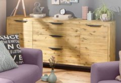 Home affaire Sideboard »Viby« groß, aus massivem Akazienholz, Breite 180 cm