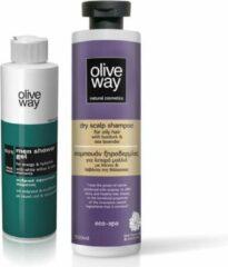Oliveway SET Shampoo Anti-roos 500ml en energetische douchegel 250ml - 2stuks