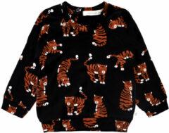 Your Wishes baby sweater met biologisch katoen zwart/bruin