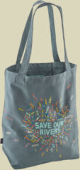 Patagonia Market Tote Schultertasche / Totebag Größe one size save our rivers:shadow blue