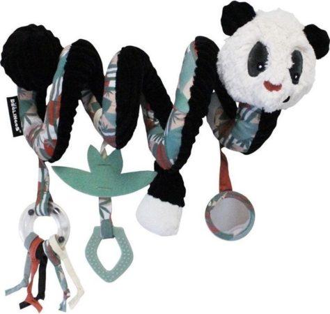 Afbeelding van Les Deglingos Kinderwagenspanner Spiraal Panda Zwart/wit 30 Cm