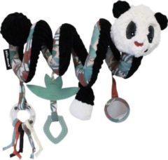 Les Deglingos Kinderwagenspanner Spiraal Panda Zwart/wit 30 Cm