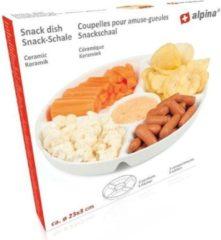 Alpina Kitchen & Home Alpina   Snackbord  23 cm   Wit   Keramiek