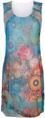 Kleid Alba Moda blau-orange