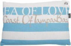 In the Mood Collection Lendekussen Sea of Love 30x45cm Aqua - 2 stuks
