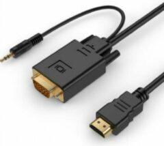 Cablexpert HDMI naar VGA + 3,5mm Jack kabel / zwart - 1,8 meter
