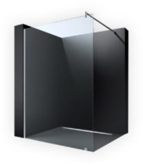 Douche Concurrent Inloopdouche Erico 100x200cm Antikalk Helder Glas Chroom Profiel 8mm Veiligheidsglas Easy Clean