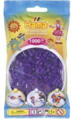 Paarse Strijkkralen Hama 1000 Stuks Paars Doorzichtig