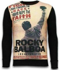 Zwarte Sweaters Local Fanatic Rocky Balboa Faith - Digital Rhinestone Sweater