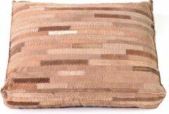 Rocaflor Kussen rechthoekig Suède Leer Bruin 60x45x12cm