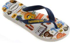 Havaianas Emoji Movie Slippers - Maat 29/30 - Unisex - blauw/wit/geel