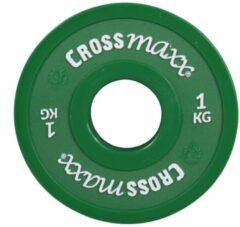 Groene Lifemaxx Crossmaxx Elite Fractional Plate - 50 Mm - 1 Kg