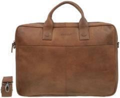 DSTRCT Fletcher Street Business achtervak 17 inch Cognac – Laptoptas – Cognac