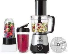 Zilveren NutriBullet Magic Bullet Kitchen Express – 2-in-1 – Foodprocessor met Blender – Keukenmachine – Zwart – incl. Bekers To Go