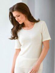 Shirt met korte mouwen Van Nina v. C. beige