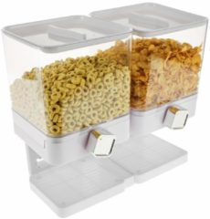 Witte United Entertainment Luxe Dubbele Cornflakes Dispenser - Wit