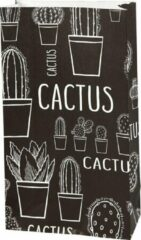 Zwarte Vivi Gade Papieren Zakken 12 X 6 X 21 Cm 8 Stuks Cactus
