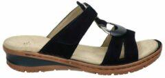 Ara nubuck slippers donkerblauw