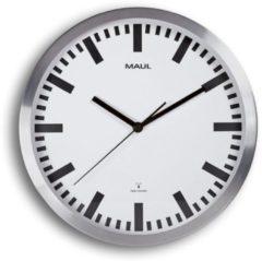 MAUL Wanduhr/Funkuhr MAULpilot, Durchmesser: 300 mm, silber