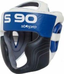 Hoofdbeschermer Super Pro Starpro S90 | zwart-wit-blauw XS