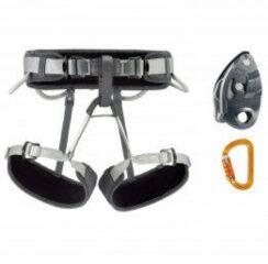Grijze Petzl - Kit Corax Grigri SMD - Klimset maat Größe 1, zwart/ gray