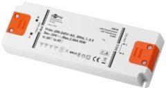 Goobay SET 24-50 LED slim LED-transformator Constante spanning 0 tot 50 W 2.08 A 24 V/DC Niet dimbaar, Geschikt voor meubels