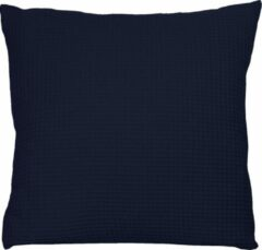 Donkerblauwe BINK Bedding Sierkussen Wafel (Pique) Marine 50 x 50 incl vulling