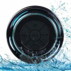 Zwarte Merkloos / Sans marque Doucheradio | Bluetooth | Luidspreker | Draadloos | Waterdicht | USB Oplaadbaar | Drijft op Water | FM Radio | Zuignap | Integreerde Microfoon | Bellen