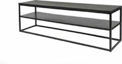 Duverger® Industry oak - TV-meubel - eiken blad - zwart gebeitst - stalen legplank - rechthoek - 160x40
