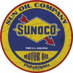 Rode Signs-USA - Sunoco Oil - Round 35 cm - Wandbord - Rond 35 cm