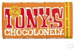 Chocolade Tony's Chocolonely reep 180gr karamel zeezout
