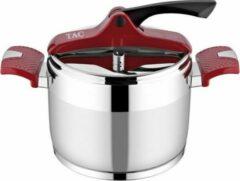 Bordeauxrode Merkloos / Sans marque Tac - RVS snelkookpan inhoud 7 liter