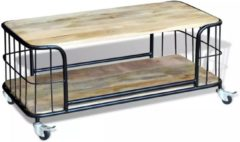 Bruine VidaXL Salontafel 100x50x35 cm massief mangohout