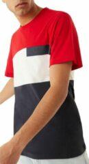 Marineblauwe Colmar Colmar Shirt T-shirt - Mannen - wit - navy - rood