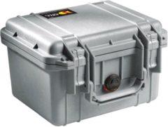 Peli 1300 Waterdichte Camerakoffer Zilver met Foam Inserts