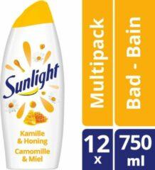 Sunlight pH-Huidneutraal Badschuim Kamille & Honing 750 ml (8711700683661)