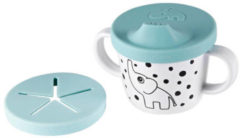 Done by Deer Baby Accessoires Silicone Spout and Snack Cup Elphee Blauw