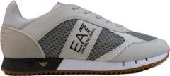 Gebroken-witte Emporio Armani Sneaker met mesh details