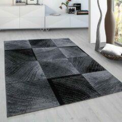 Plus Vloerkleed - Square - Rechthoek - Zwart - 120 x 170 cm - Vintage, Patchwork, Scandinavisch & meer stijlen vind je op WoonQ.nl