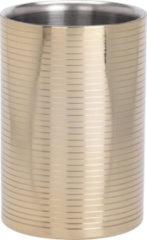 Gouden C.T Wijnkoeler ø12 cm RVS Shiny