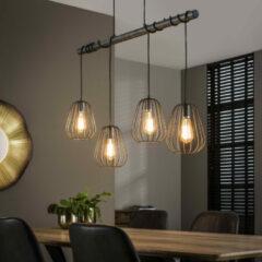 LifestyleFurn MOOS - hanglamp 4xø18 lampoon / oud zilver