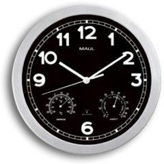 MAUL Wanduhr/Funkuhr MAULdrive, Durchmesser: 300 mm, silber