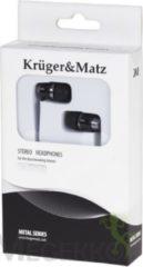 Zilveren Krüger&Matz Krüger & Matz KMM01BK - Metalen in-ear ooroordopjes - zwart
