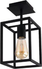 Nowodvorski Plafondlamp Crate H 30,5 cm B 15 cm zwart
