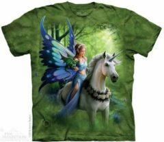 Witte Yogi & Yogini T-Shirt Mountain Artwear Realm of Ench L